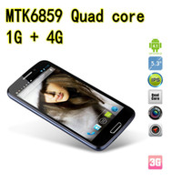 Wholesale New MTK6589 Quad Core Android Cell phone inch MP GB GB Android smart phone