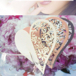 DHL Free Shipping!600pcs lot! Mix Style Laser cut Place Card Expression for glass table decoration