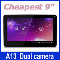 Wholesale 2013 newest inch Allwinner A13 Cortex A8 android tablet pc M GB Dual Camera WIFI JBD