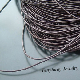 Leather Rope 1mm Brown Leather Necklace Cords, DIY Jewelry Findings Free Shipping