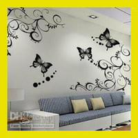 Wholesale 3D Wall Sticker Wall Paster Room Sticker Home Decorative Poster Set Vine Butterfly