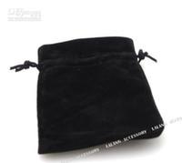 Wholesale 150pcs Black Corduroy Gift Jewellery Bags cm