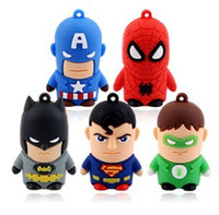 Wholesale usb drivers Cartoon Hero USB Flash Drive GB GB GB GB Real Capacity