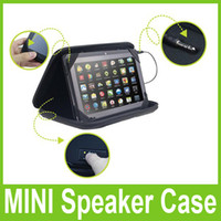 Wholesale MINI Speaker Leather Case Bag For inch Tablet PC MID Ainol NOVO A13 Q88 Q89