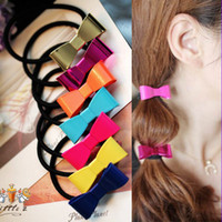 Wholesale 24PCS Fluorescence Color Bow etal Hairpins Pony Tails Holder Hair Hoop Hair Band Jewelry Bracelet