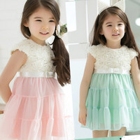 Wholesale children summer girls cute roses dresses dandys