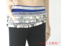 Women Belly Dancing Velour 338 coins hip scarf Belly dance hip scarf women wear costumes belly dancing tribal belt