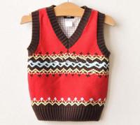 baby vest knitting pattern - Baby Woolly Vest Children Sweaters Knitting Patterns Kids Vest Fashion Child Wear Knitted Waistcoats
