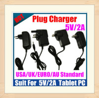 Wholesale DHL shipping NEW Adapter V A Plug Charger USA EU UK AU standard for Android Tablet PC MID