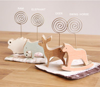 Wholesale Animals Iron Wire Sticky Notes Folder Bracket Business Card Files Holder Message Folders Stand