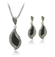 Wholesale Hot Selling Leaf Jewelry Sets Necklace and Earring Producer OEM accepted LM S018