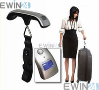 Wholesale 50kg Electronic Hanging Luggage Travel Scale lb x lb Digital Weigh Scales Portable