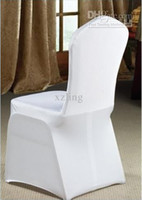 Wholesale 100pcs white spandex banquet chair cover for party wedding flat front