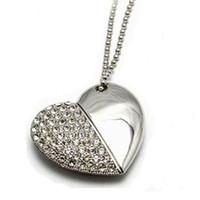 Wholesale HOT Flash Memory BestSelling Heart Shaped Jewelry USB flash drive gb Usb Pendrive FreeShipping