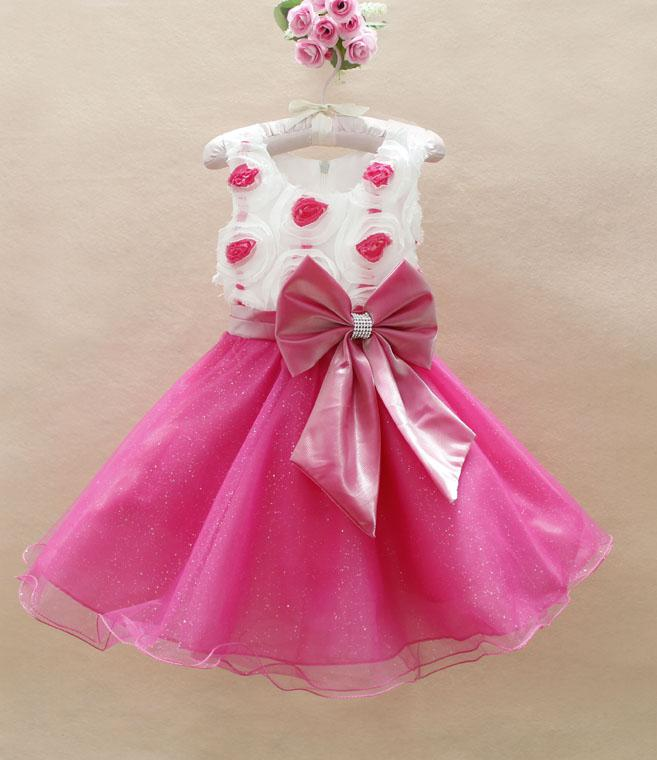 Baby Girl Party Dresses Pink - Evening Wear