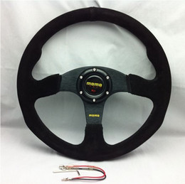 Free Shipping MOMO Racing Steering Wheel Suede Leather Wholesale and Retail top sale free shipping