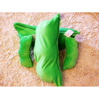 8-11 Years bean bag materials - 10 inch Peas in a pod Plush Bean Bag Stuffed Material PP Cotton pillow toy green