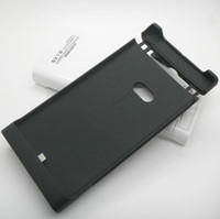 Wholesale 2200mah Portable External Battery Leather Case With Stand for Nokia Lumia