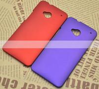 Ракушка масло Цены-Красочные резина Hard матовая задняя сторона обложки случая кожи Масло Матовый Shell Guard Shield для HTC One M7