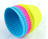Wholesale Hot Selling Soft Silicone Round Cake Muffin Chocolate Cupcake Liner Baking Cup Mold