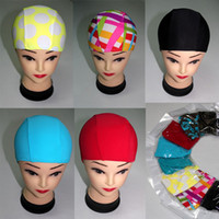 Wholesale Fashion Unisex Nylon Swim Caps Mlti designs Bathing Cap For Men And Women Kids Elastic Swimming Cap