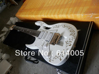 Wholesale New Left hand White jem v electric guitar with floyd rose vibrato with square case made in japan
