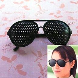 Wholesale Eyes Exercise Black Pinhole Glasses Vision Eyesight Improve Glass eye care