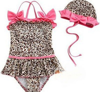 Wholesale Girls piece leopard baby baby bikini swimwear zebra print girls swimsuit swim pool coats swimsuits