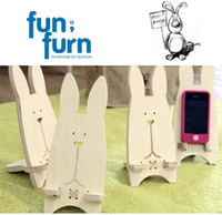 Wholesale Long Ears Rabbit Mobile Phone Holder Camera Support Frame Storage Rack Winding Board Fun Furniture