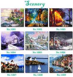 Wholesale DIY Paint By Numbers Acrylic Drawing With Brush Paints Home Decorating x16in x40cm