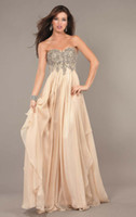 Wholesale Best Price New Sweethert Applique Sequin A line Floor length Chiffon Formal Eveing Party Dresses