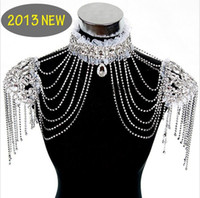 Gift american indian celebrations - Bride shoulder chain NEW Luxury Lace Chain celebration dress marriage jewelry T13031132