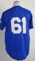 2013 New Style Baseball Jerseys #61 Blue Men Cool Base Jerse...