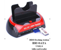 Wholesale USB2 quot quot IDE SATA HDD Docking station black amp red