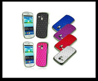 Plastic For Samsung For Christmas Bling Diamond Rhinestone Electroplate Hard Plastic Case Back Cover for Samsung Galaxy S3 Mini I8190