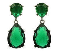 Wholesale Oscar Red Carpet Emerald Droplet Earring Angelina Jolie Design Luxury Lady Night Party Jewelry