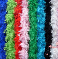 Wholesale cm Chicken Feather Strip Wedding Marabou Feather Boa Scarf Colors