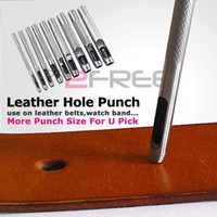 Wholesale New Men Women Leather Belt Watch Band Gasket Hollow Hole Steel Punch Cutter Tool