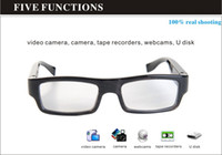 Wholesale 8GB undectable lens spy eyewear glasses camera x720 HD video recorder mini camera hidden camera