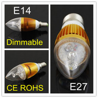 Wholesale Dimmable W W E14 E27 High Power LED Candle Light Bulb Lamp Ceiling chandelier led bulbs