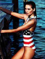 Wholesale 2014 Fashion Bikinis Sexy Summer Ladies Swimwear amp Beachwear Push Up American Flag Printing One Piece Brazilian bikini Swimsuit Bathing Suit
