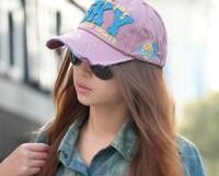 Wholesale Korean version of the new lady cotton baseball hat SKY hip hop edging peaked cap