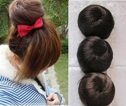 Wholesale 2013 Girls wig stubbiness long wig bag high artificial rope button meatball head flower