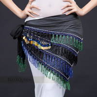 Women Belly Dancing Velour Belly dance hip scarf of Egyptian Indian dancing bely women wear costumes accessories tribal hip tow