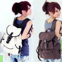 Wholesale holiday sale outdoor Canvas backpack fashion bag for woman lady shopping bag carrier W1285