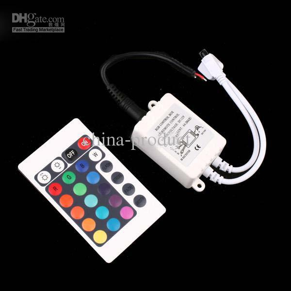 3528 LED Light Strip 24 touches IR Remote Controller 5050 pour RGB SMD chaîne de