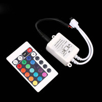 Wholesale 3528 LED Strip light Keys IR Remote Controller for RGB SMD string Lights V