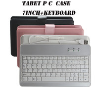 Wholesale 7 inch Leather case with USB keyboard for Tablet pc notebook MID epad cover bag