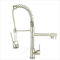 Wholesale Nickel brushed sink faucet pull out and down basin mixer basin faucet kitchen sink faucet pull out ku