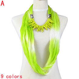 Fashion pendant scarf women ,coral design jewelry infinity circle endless scarves chiffon fabric with scarfs ,NL-1987